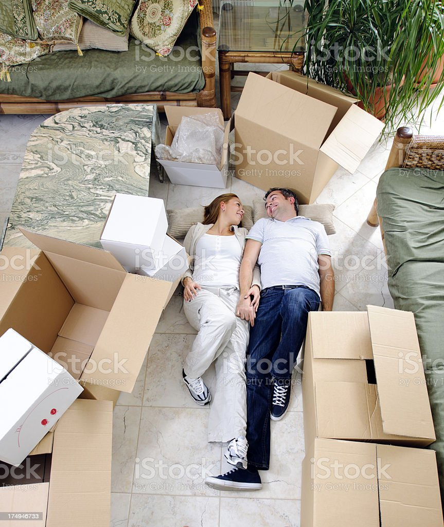 moving new home royalty-free stock photo