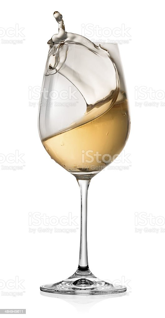 Moving of alcohol in a glass stock photo