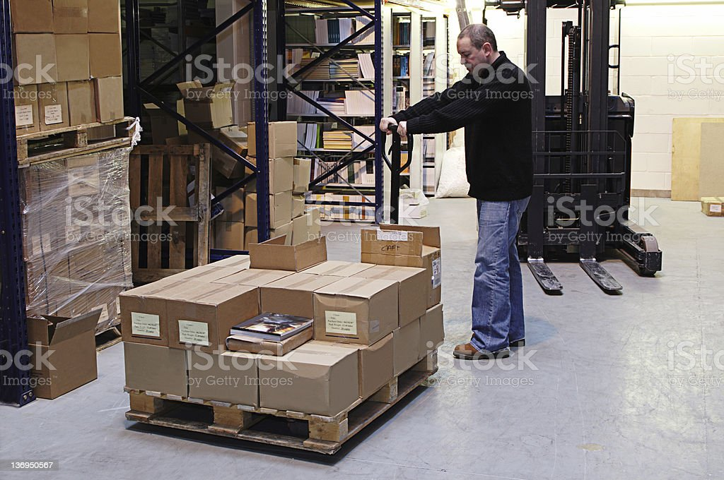 Moving Pallets royalty-free stock photo