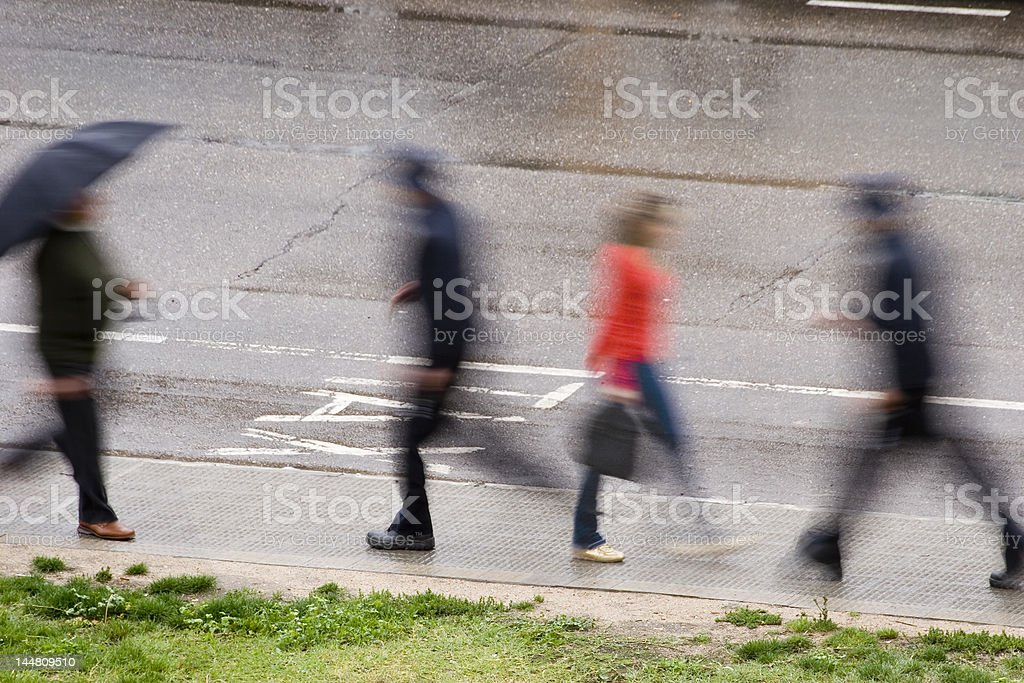 Moving people royalty-free stock photo