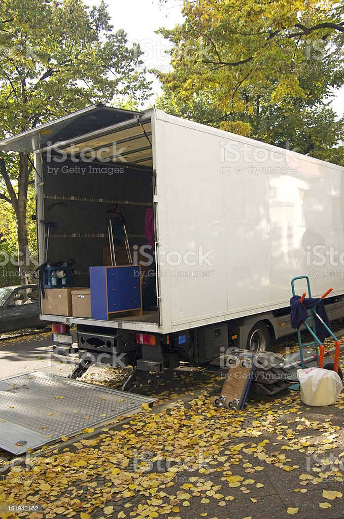 moving relocation royalty-free stock photo