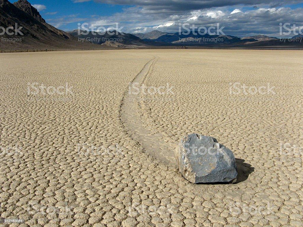 Moving Rock stock photo