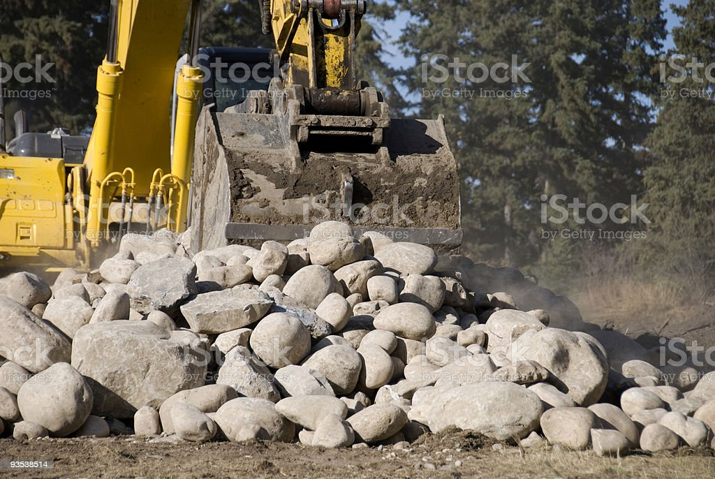 Moving Rocks royalty-free stock photo