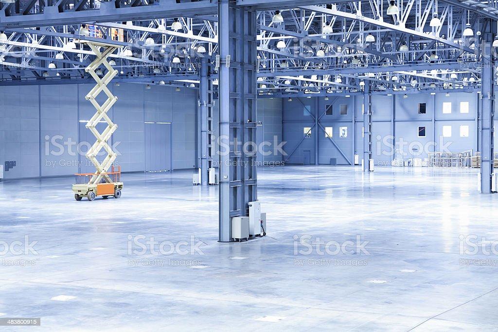 Moving Scissor Lift Platform stock photo
