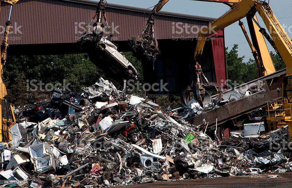 moving scrap stock photo