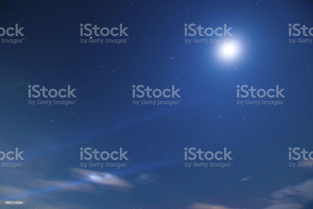 Moving sky night time stock photo
