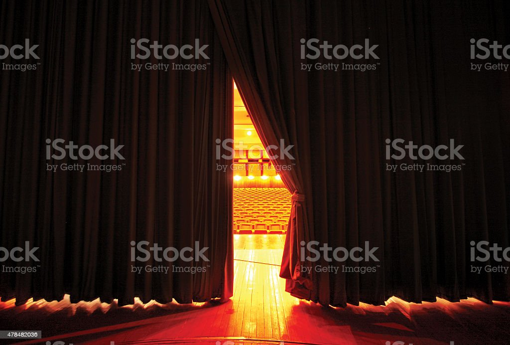 Moving Stage Curtains stock photo