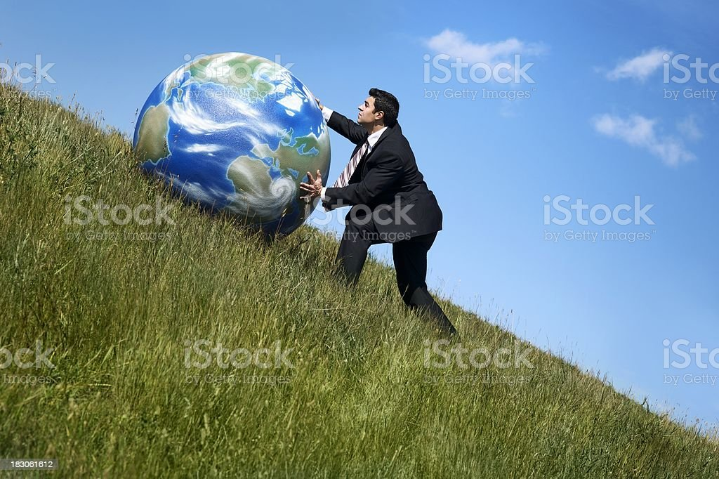 Moving the earth royalty-free stock photo