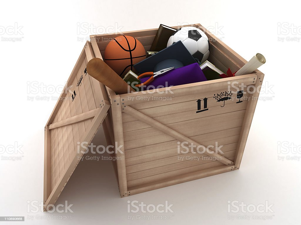 Moving the house royalty-free stock photo