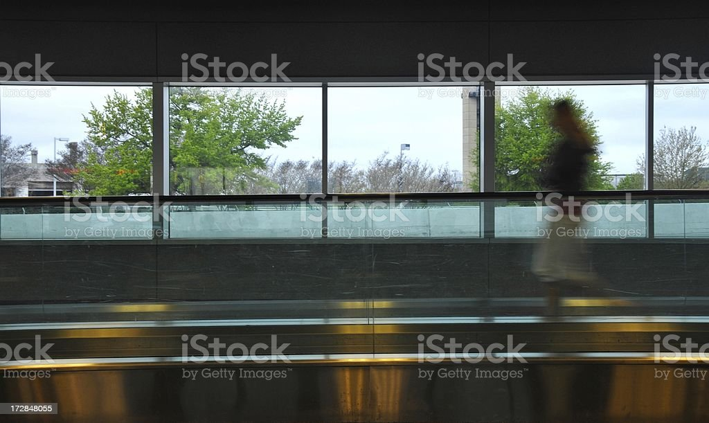 Moving through the Airport royalty-free stock photo