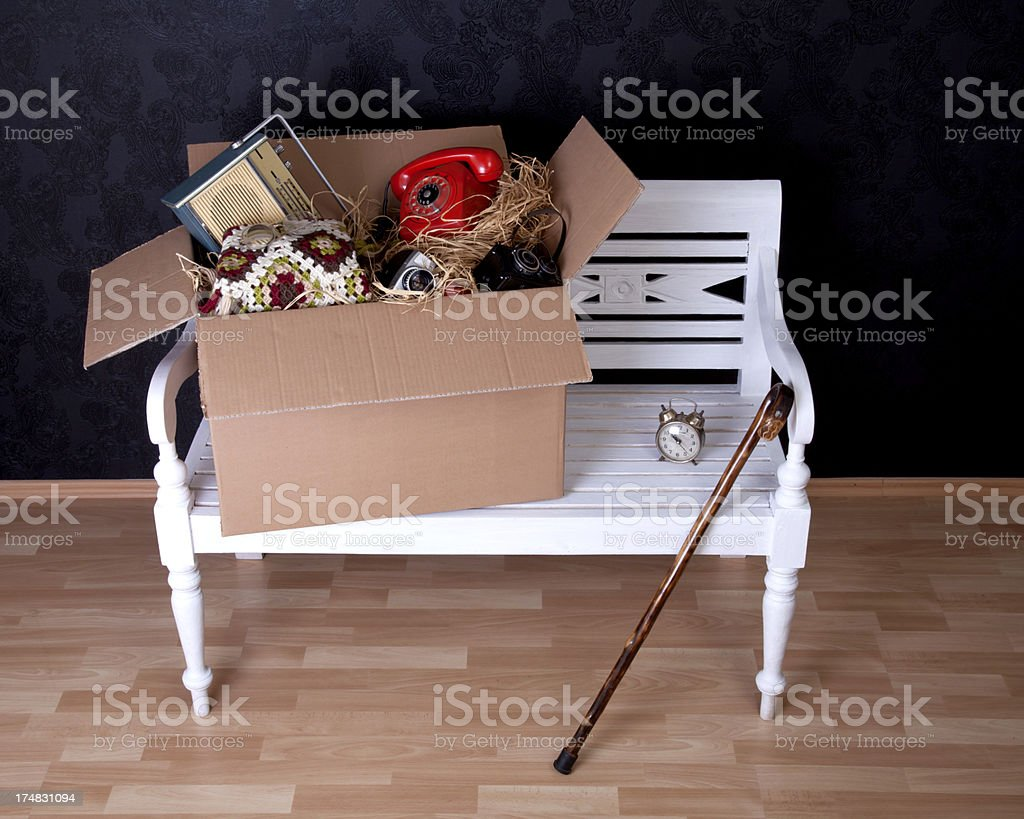 Moving time with memories royalty-free stock photo