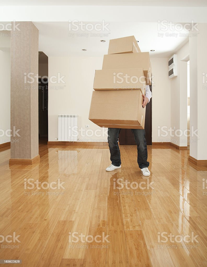 Moving to a new apartament royalty-free stock photo