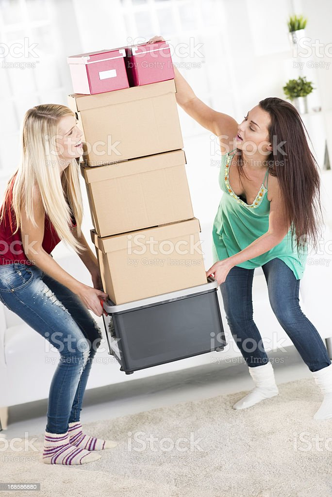 Moving to new flat royalty-free stock photo