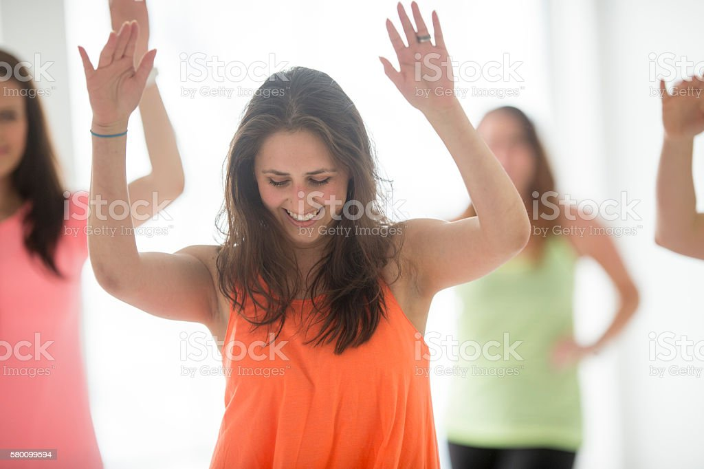 Moving to the Sound of the Music stock photo