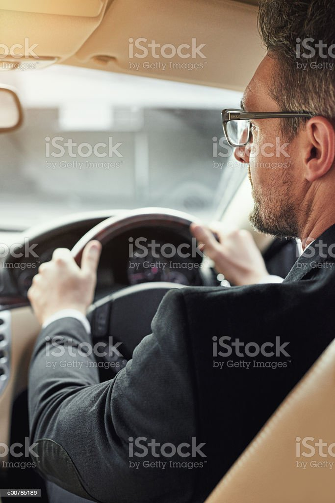 Moving towards his next business deal stock photo