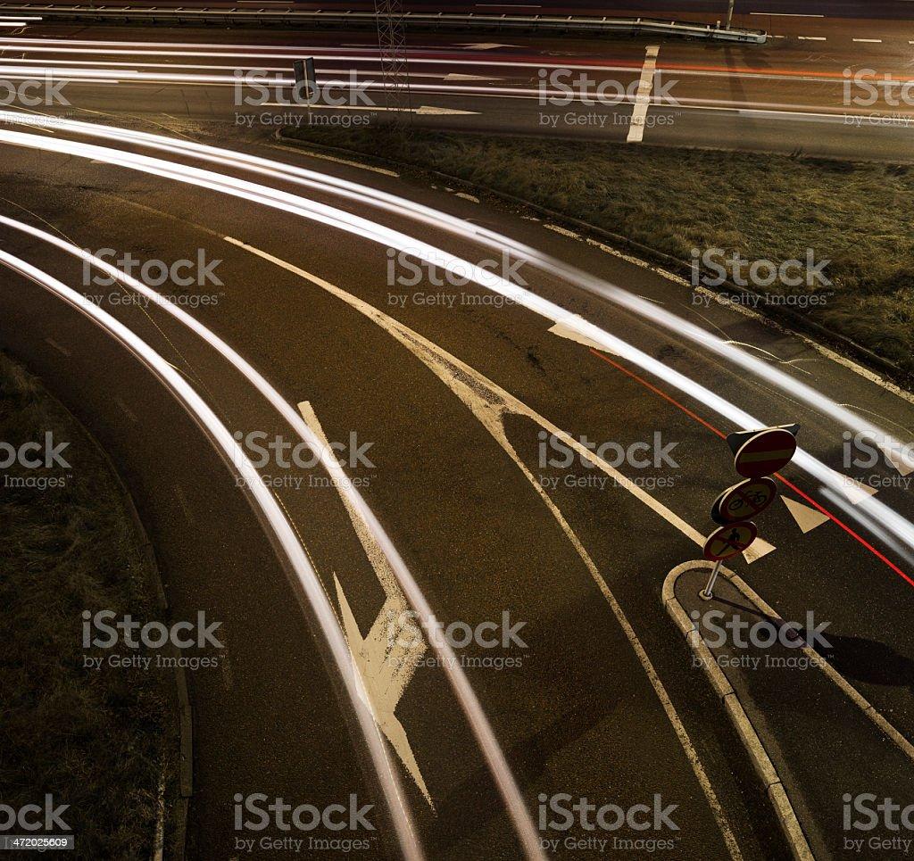 Moving traffic stock photo