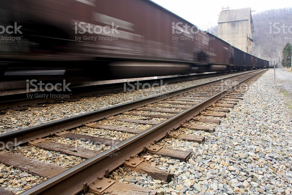 Moving Train royalty-free stock photo