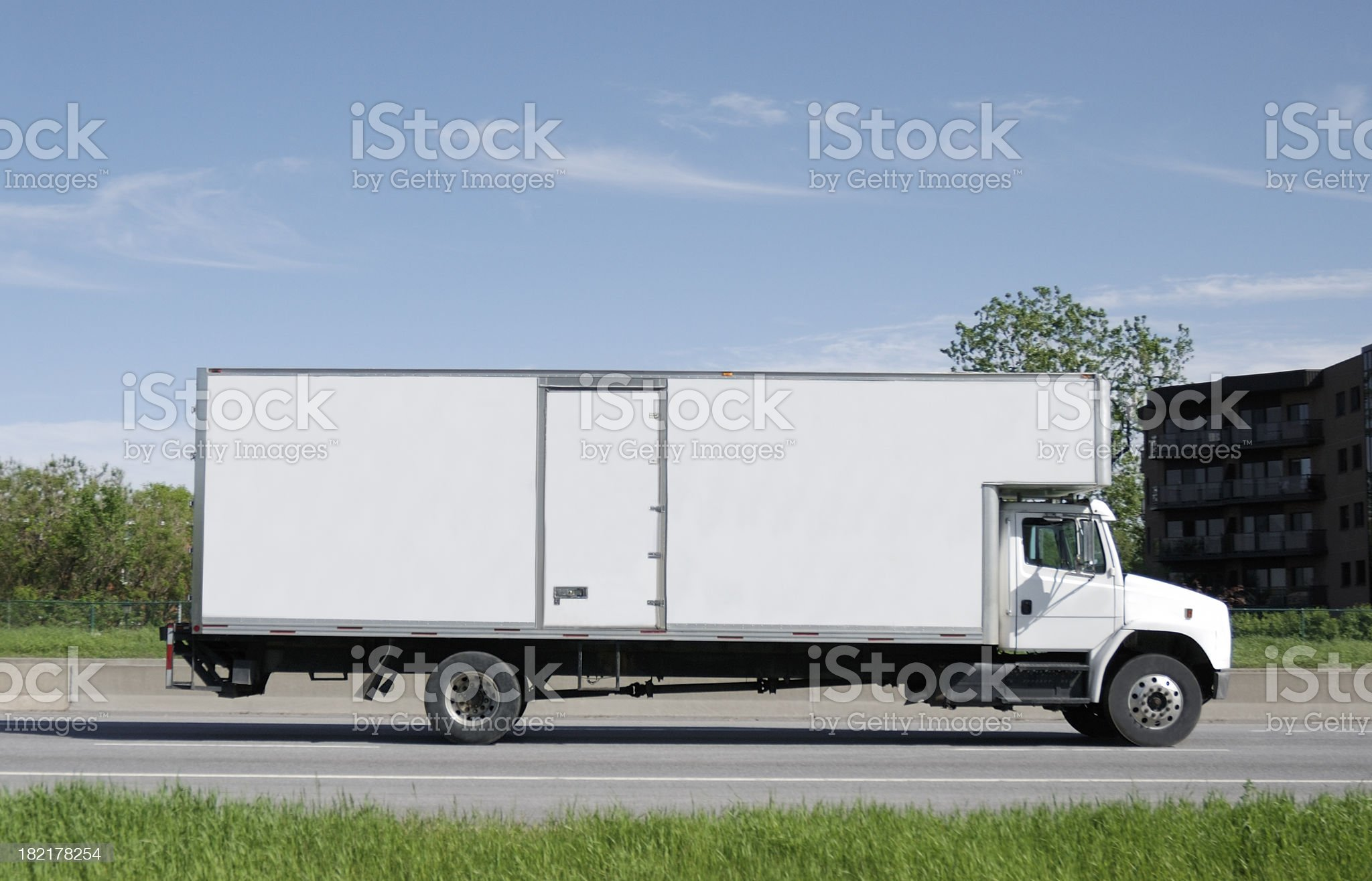 Moving truck on road. royalty-free stock photo