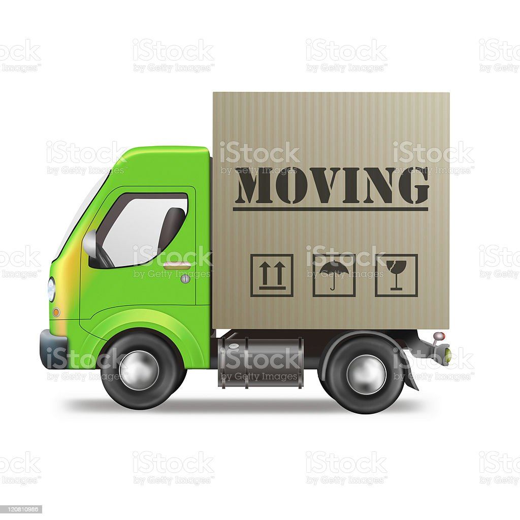 moving truck stock photo