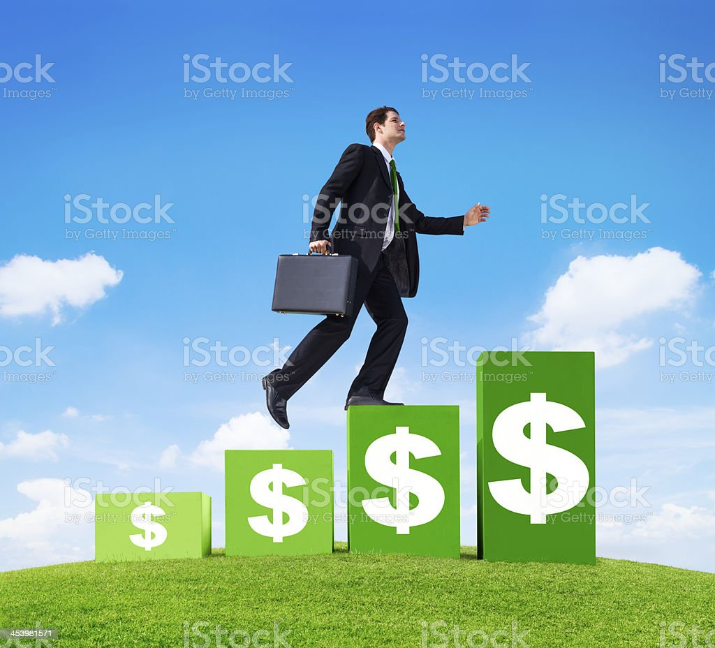 Moving up royalty-free stock photo