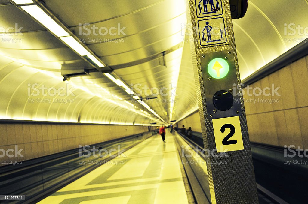 Moving Walkaway And Pedestrian Walkway royalty-free stock photo
