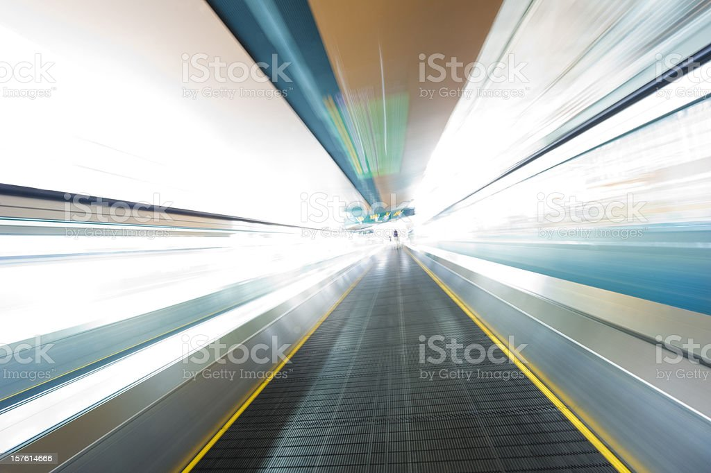 Moving Walkway Abstract stock photo