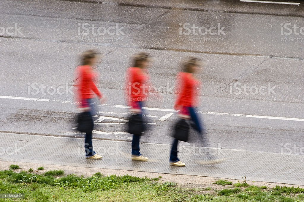 Moving woman royalty-free stock photo