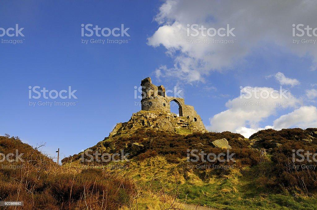 Mow Cop Castle stock photo