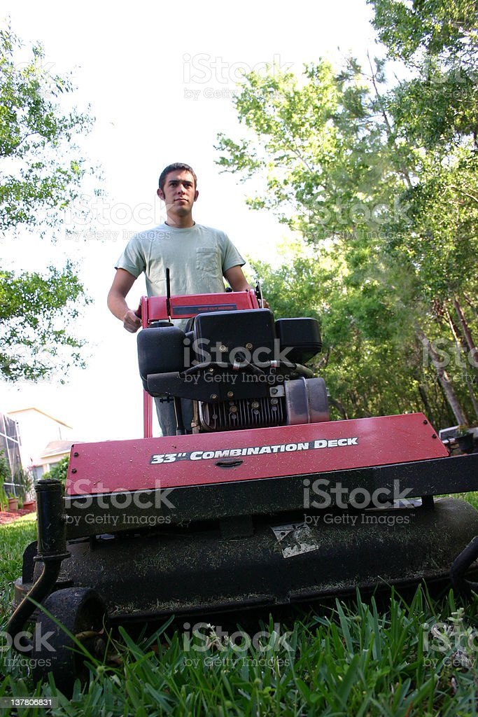 Mowing 3 royalty-free stock photo