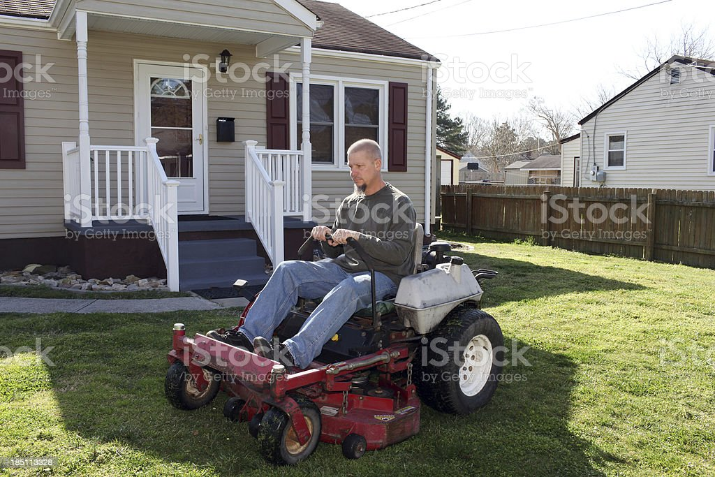 Mowing Contractor stock photo