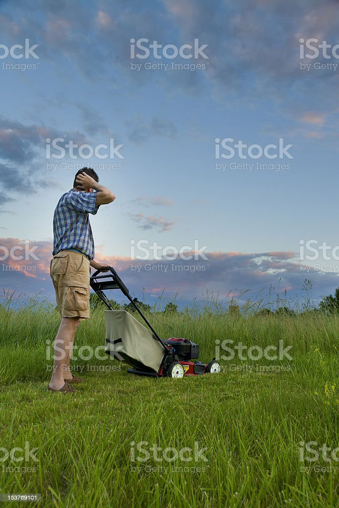 Mowing Job stock photo