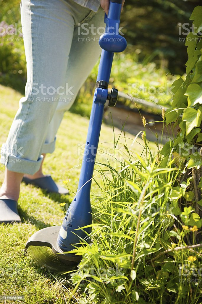Mowing the Grass royalty-free stock photo