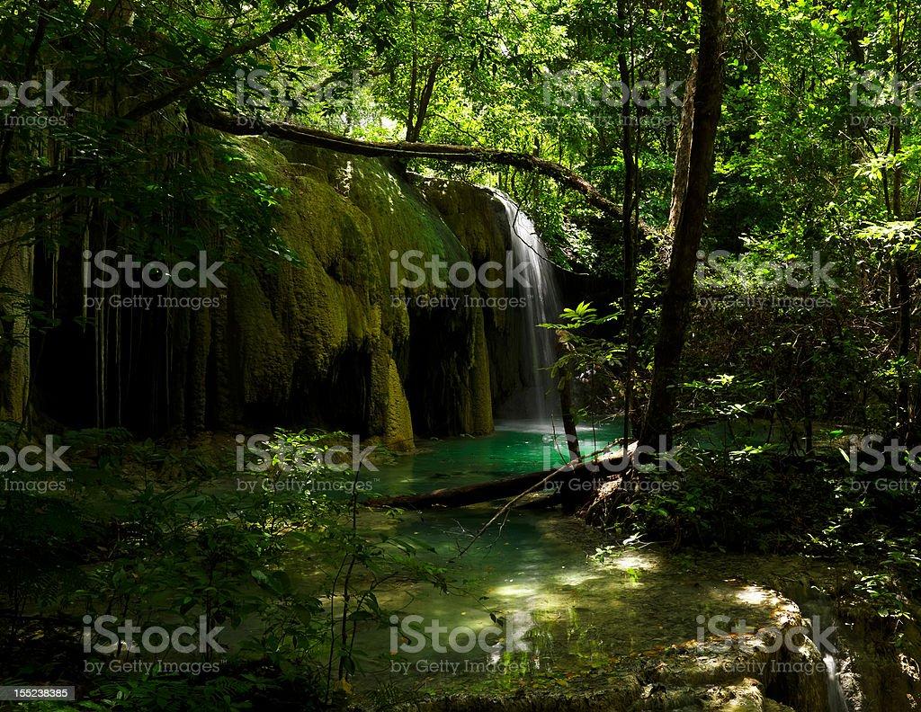 Moyo Waterfall stock photo
