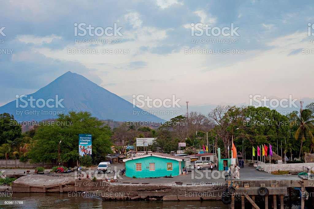 Moyogolpa Port stock photo