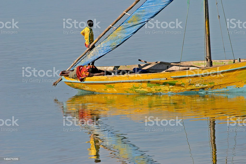 Mozambican dhow stock photo