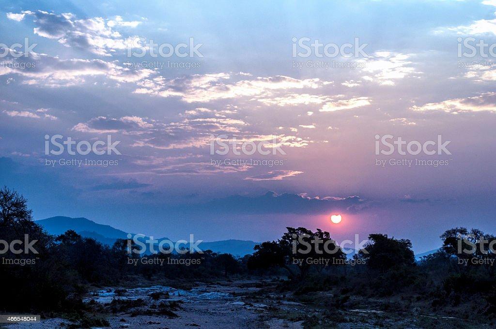 mozambique nightfall stock photo