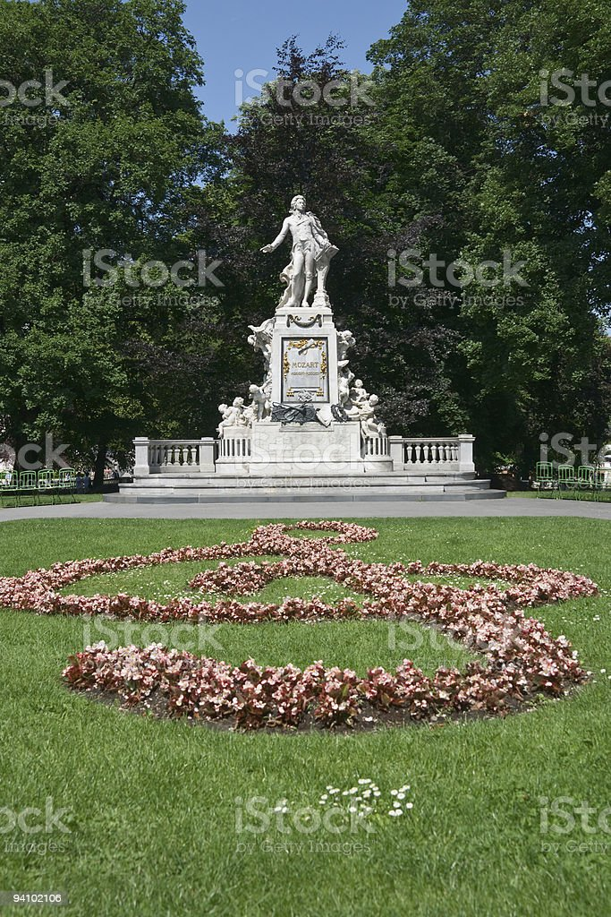 Mozart monument in Vienna royalty-free stock photo