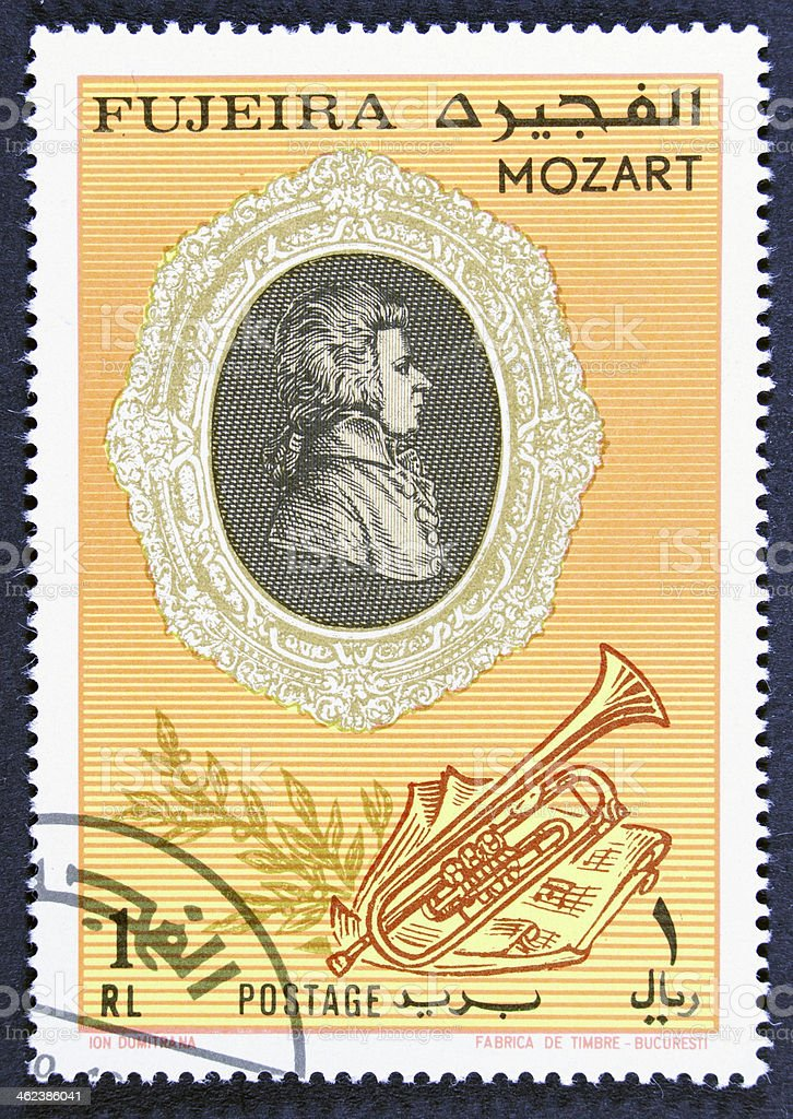 Mozart musicus royalty-free stock photo