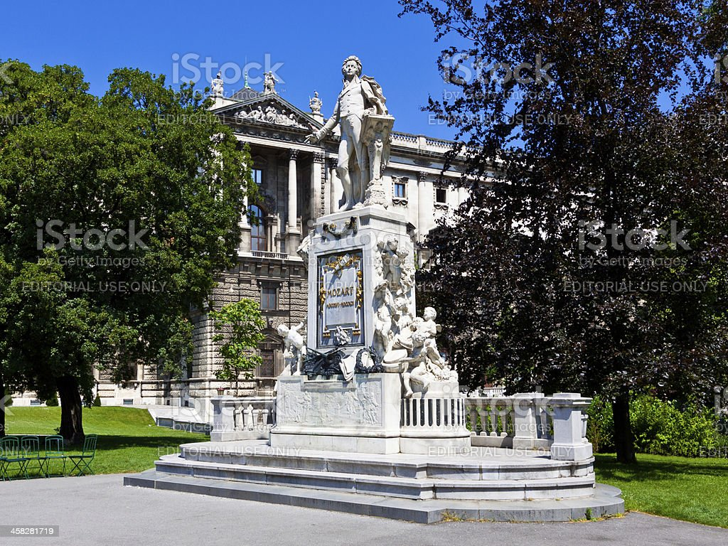Mozart Statue in Vienna. royalty-free stock photo