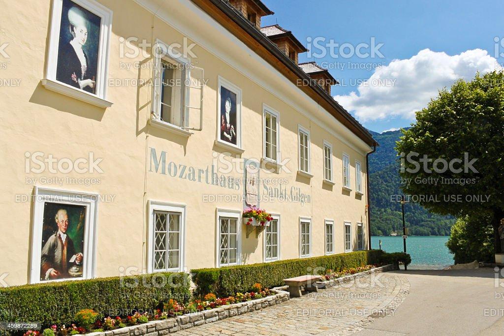 Mozarthouse in St. Gilgen stock photo