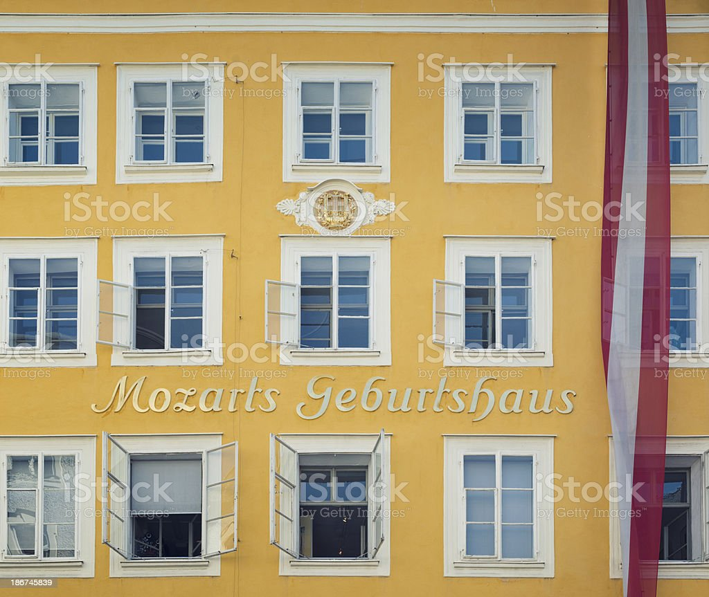 Mozart's Birthplace royalty-free stock photo