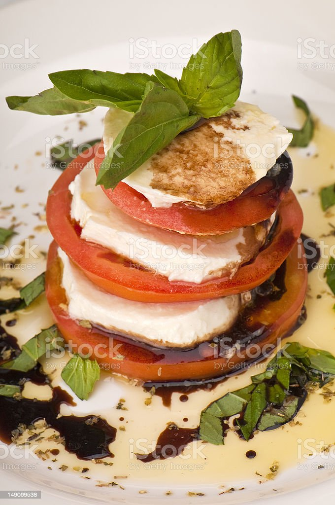 Mozzarella Caprese Salad royalty-free stock photo