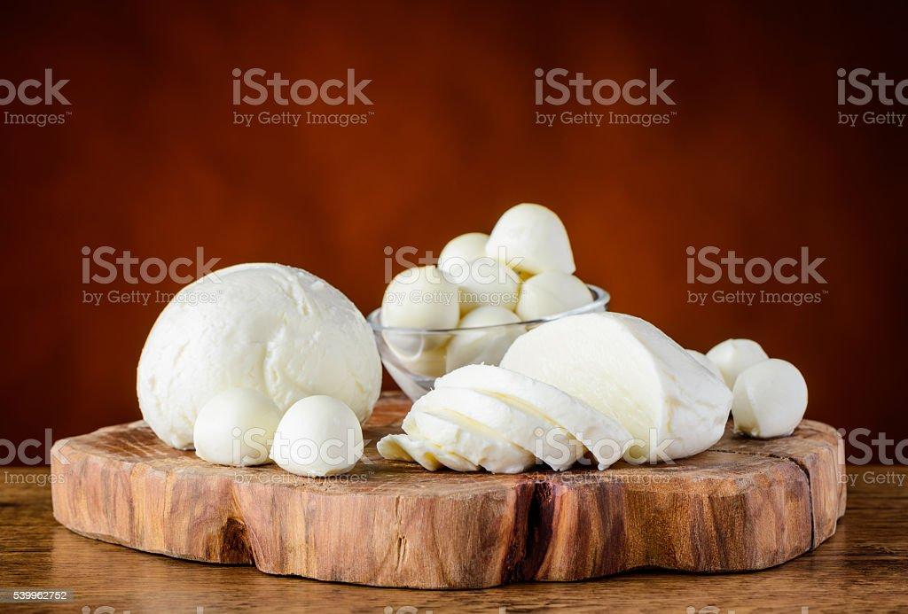 Mozzarella Cheese Balls stock photo