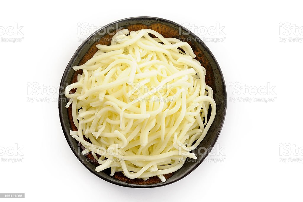 mozzarella cheese on bowl stock photo