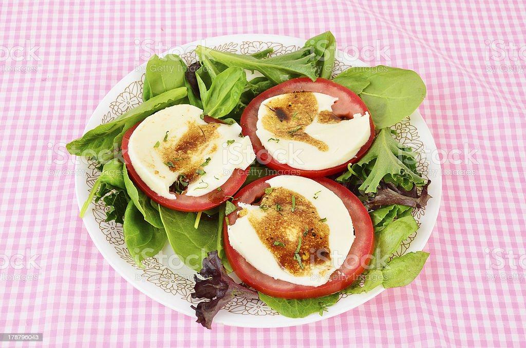 Mozzarella Cheese on Tomato royalty-free stock photo