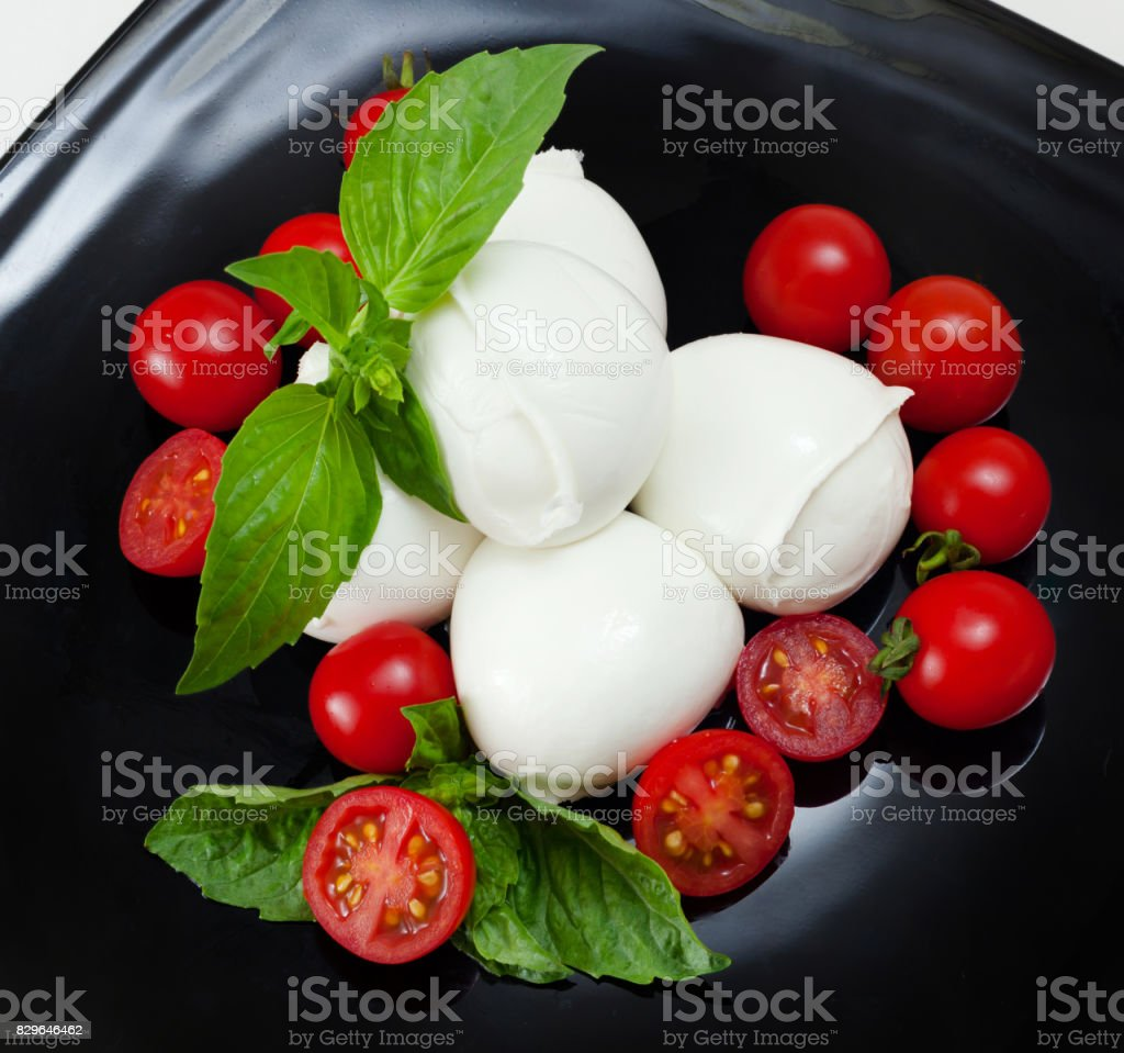 Mozzarella di Bufala, fresh cheese, italian dairy product. stock photo