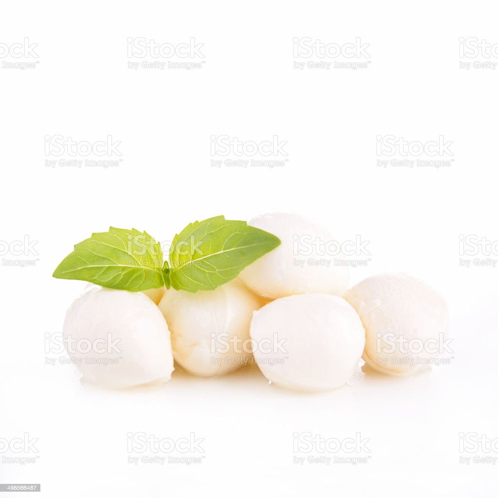 mozzarella stock photo