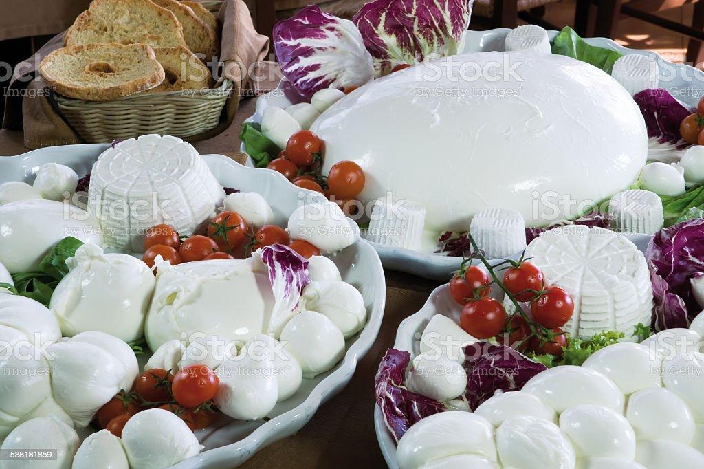 mozzarella stock photo