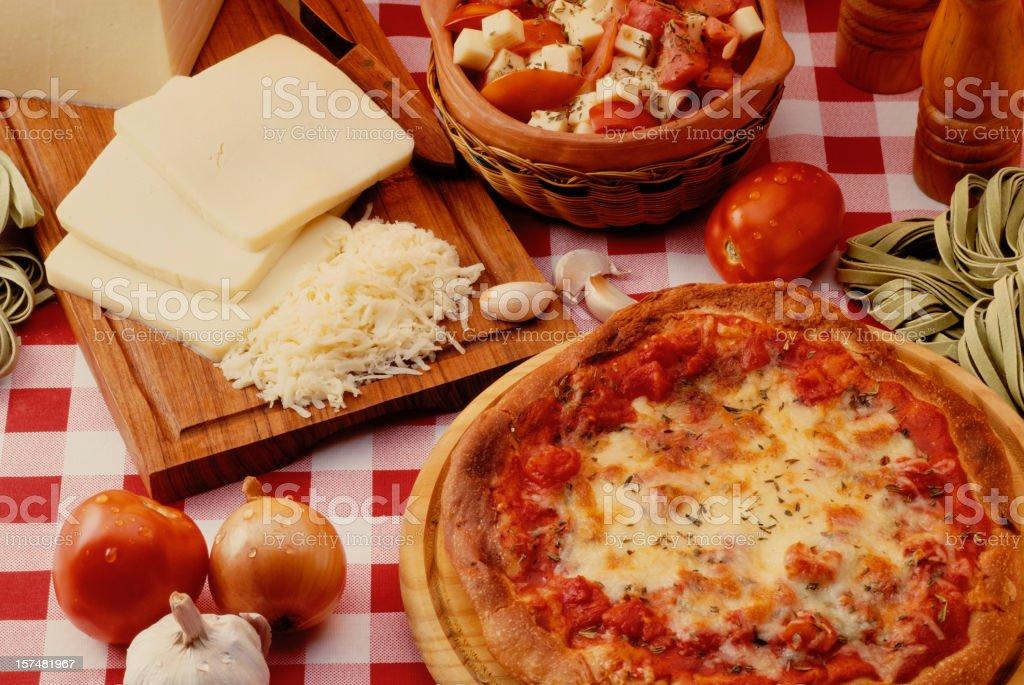 Mozzarella & Pizza royalty-free stock photo