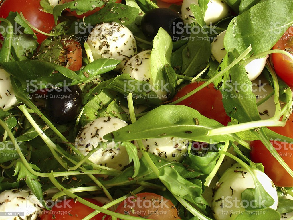 mozzarella salad background royalty-free stock photo